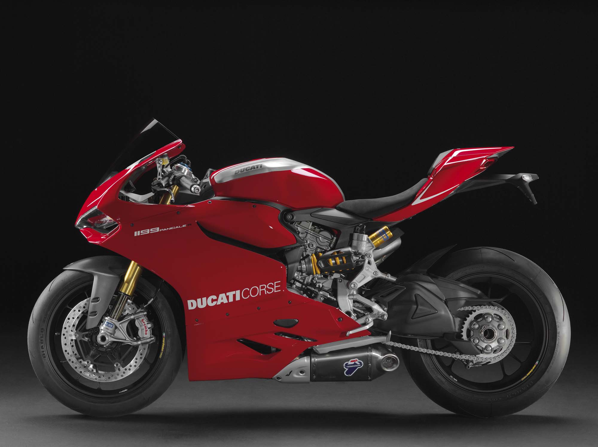 2013 ducati 1199 panigale r 201hp with race exhaust. Black Bedroom Furniture Sets. Home Design Ideas