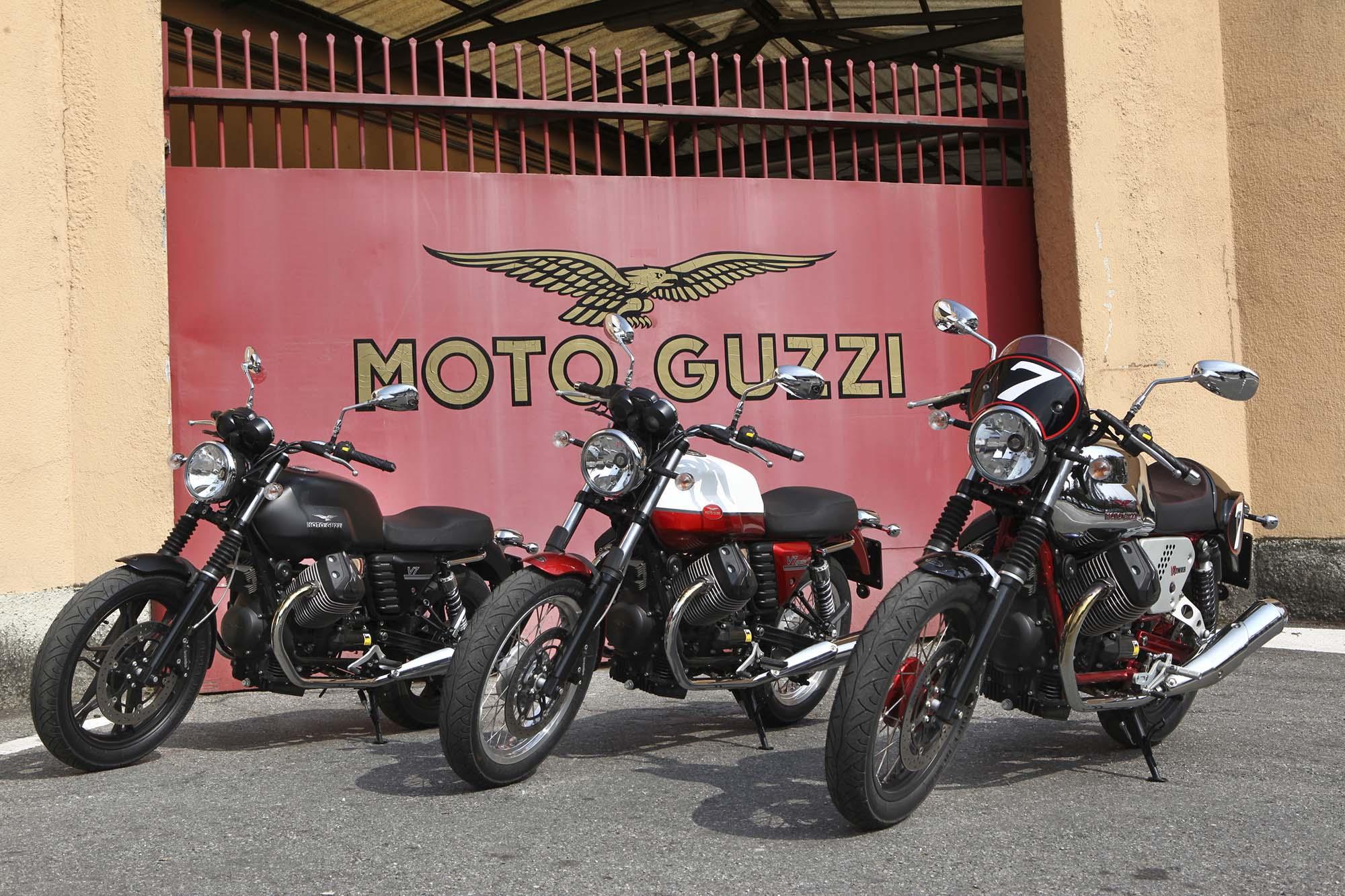 three moto guzzi v7 models coming to america for 2013 - asphalt