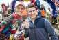 Winner Jonny Walker and Marcel Hirscher pose for a portrait at the Red Bull Hare Scramble in Eisenerz, Austria on June 1st, 2014. // Philip Platzer/Red Bull Content Pool // P-20140601-00178 // Usage for editorial use only // Please go to www.redbullcontentpool.com for further information. //