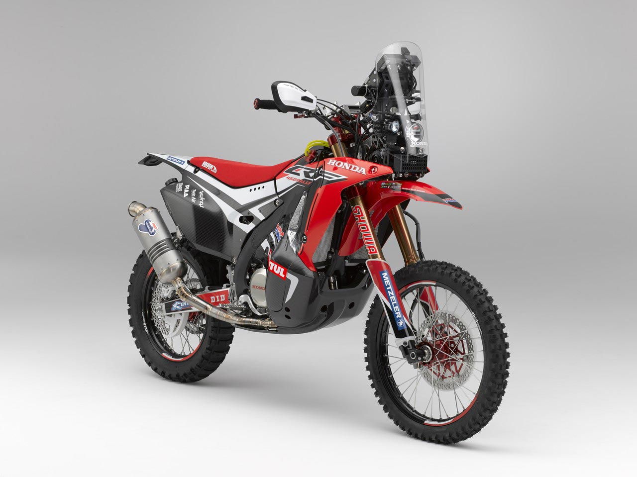 Hrc Shows Off The 2014 Honda Crf450 Rally Race Bike
