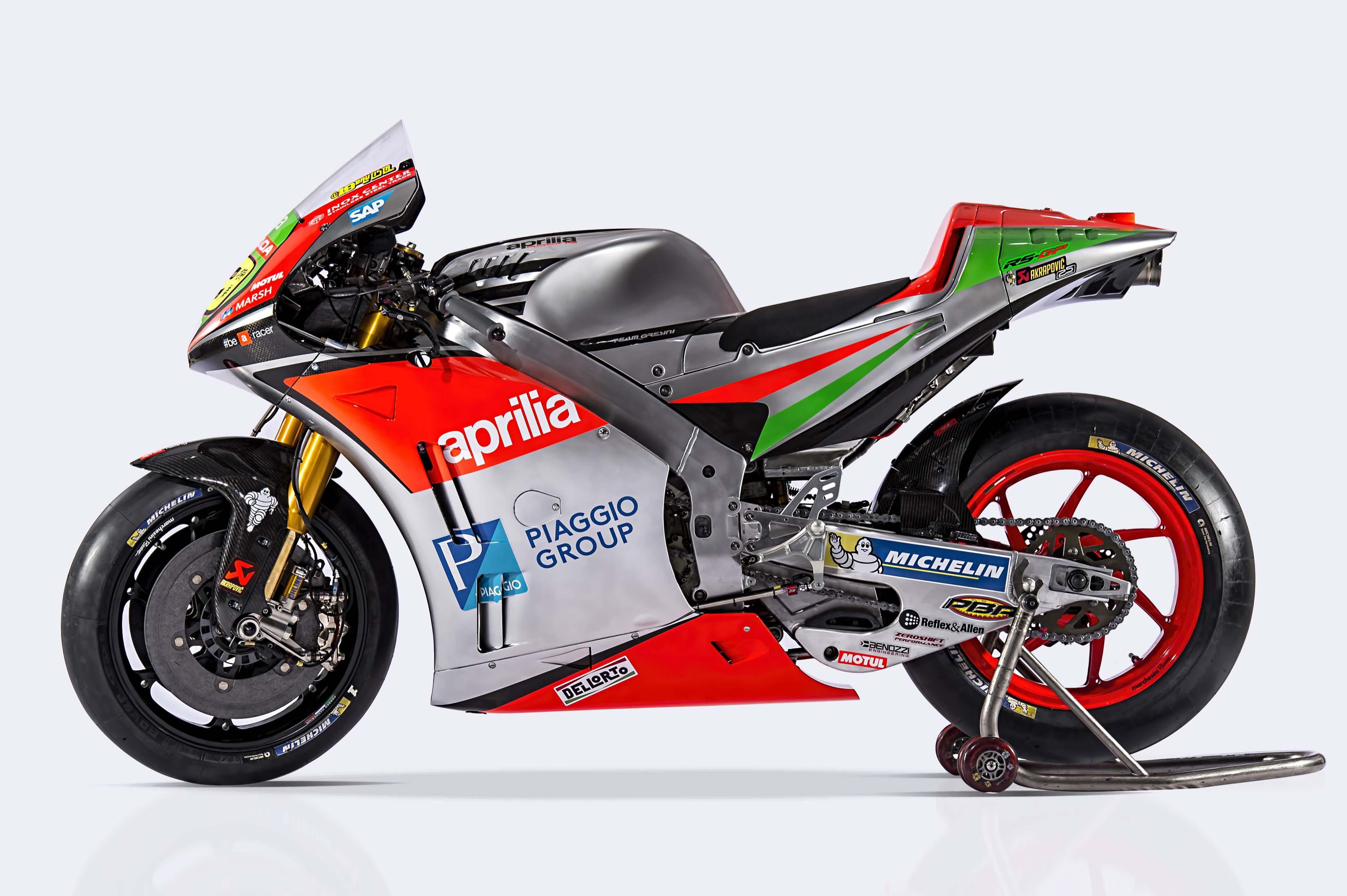 MotoGP: Aprilia Unveals the RS-GP Bike Livery for 2017
