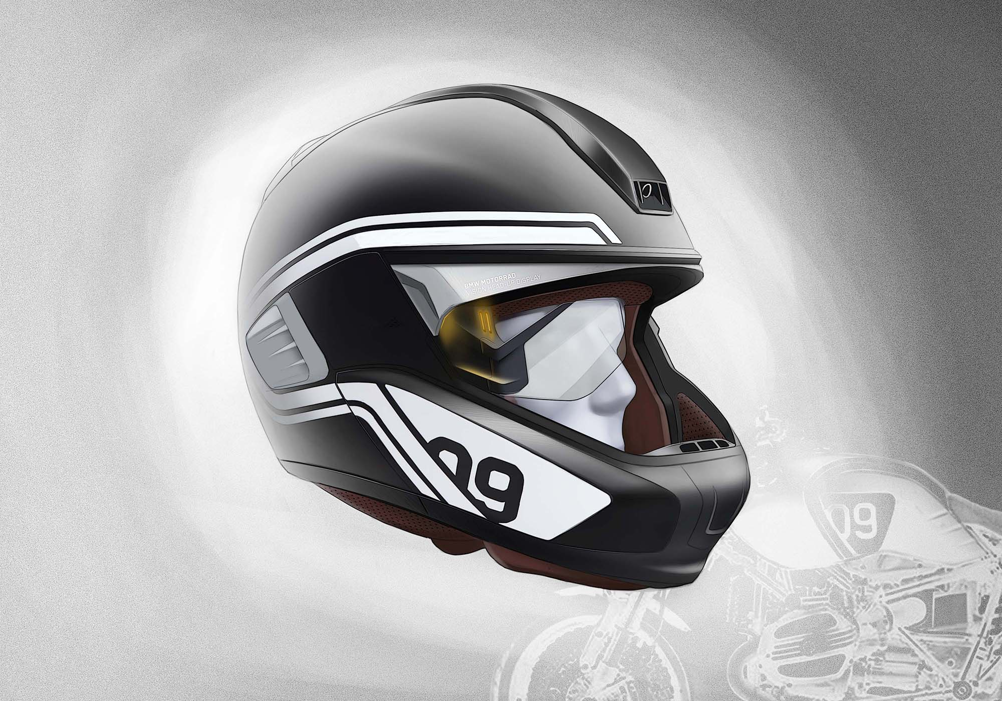 Motorcycle Helmet With Hud >> BMW Developing HUD Motorcycle Helmet