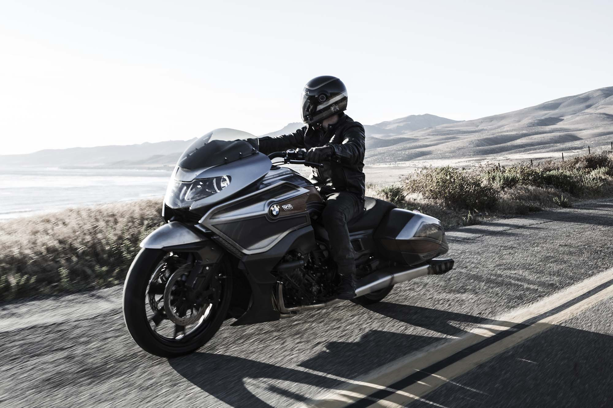 bmw motorrad concept 101 six cylinders of bagger asphalt rubber. Black Bedroom Furniture Sets. Home Design Ideas