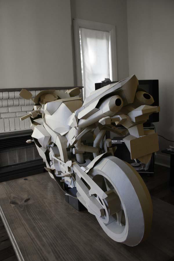 Cardboard Yamaha R1 Model Is So Awesome It Hurts Asphalt