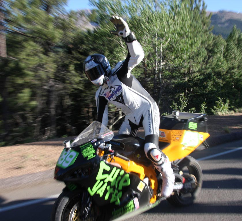 ppihc chip yates races the most powerful motorcycle ever on pikes peak sets new record for. Black Bedroom Furniture Sets. Home Design Ideas