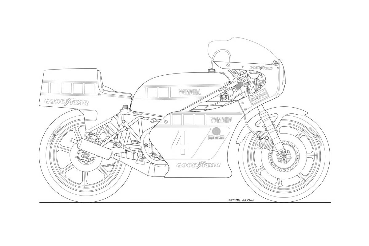 Line Art Motorcycle : Line drawing motorbike images