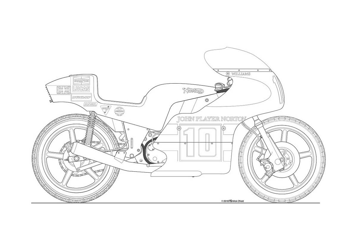 Line Drawing Motorcycle : Photos some classic motorcycle line art drawings