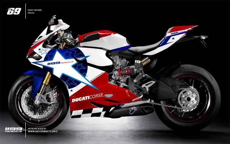 Rendered Ducati 1199 Panigale Race Replicas Asphalt