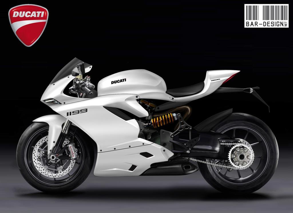 2012 Ducati Superbike 1199 Rendered by Luca Bar Design - Asphalt ...