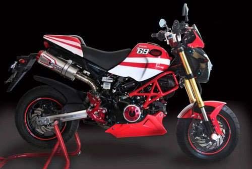 Honda Grom + Ducati Monster = Gromcati - Asphalt & Rubber
