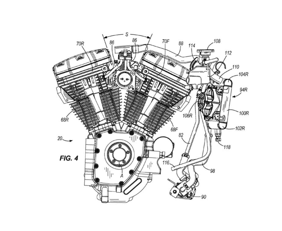 Harley Davidson Cylinder Head Cooling System Patent on Harley Davidson V Twin Evolution Engine