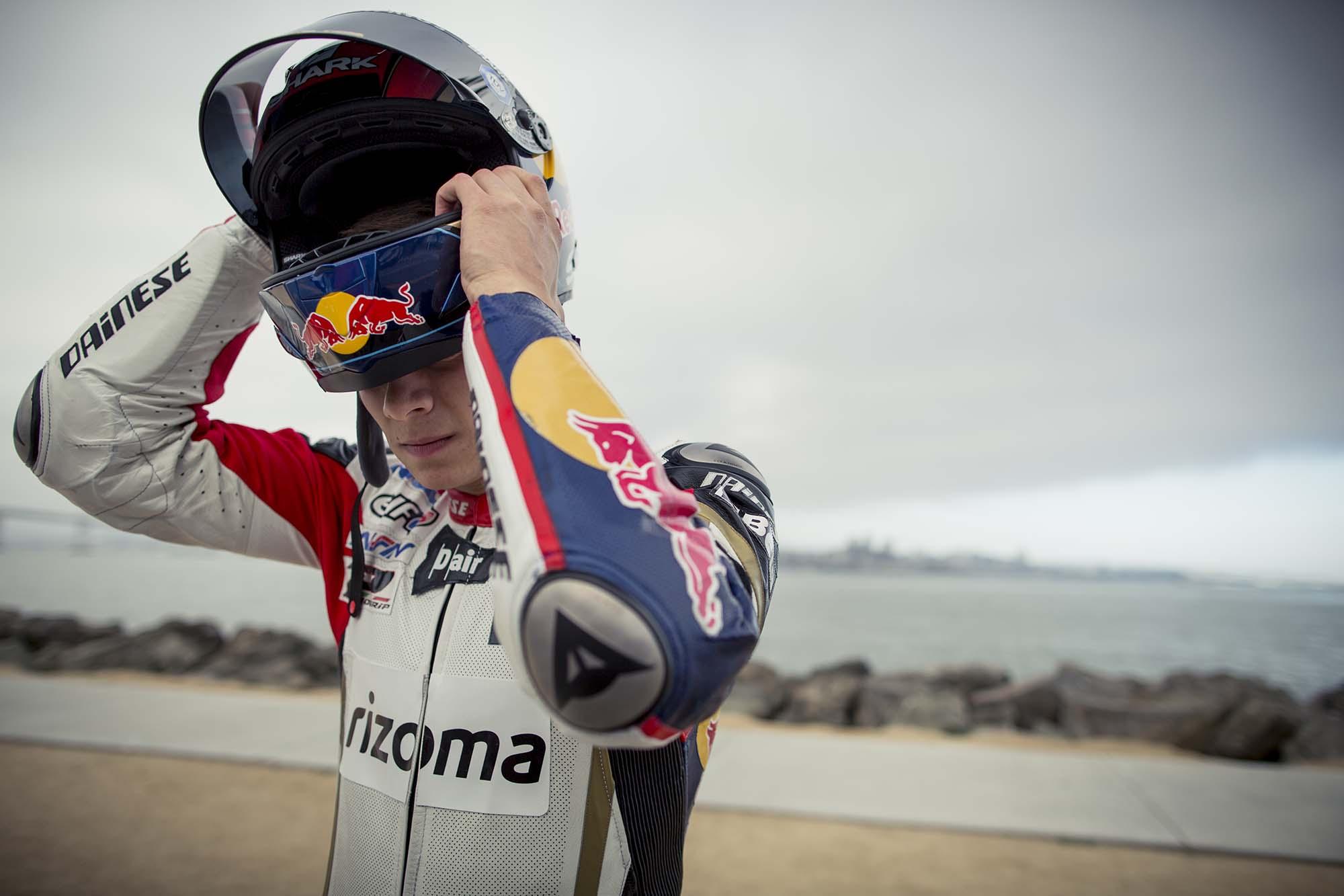 LCR Honda's Stefan Bradl Rides Thru San Francisco