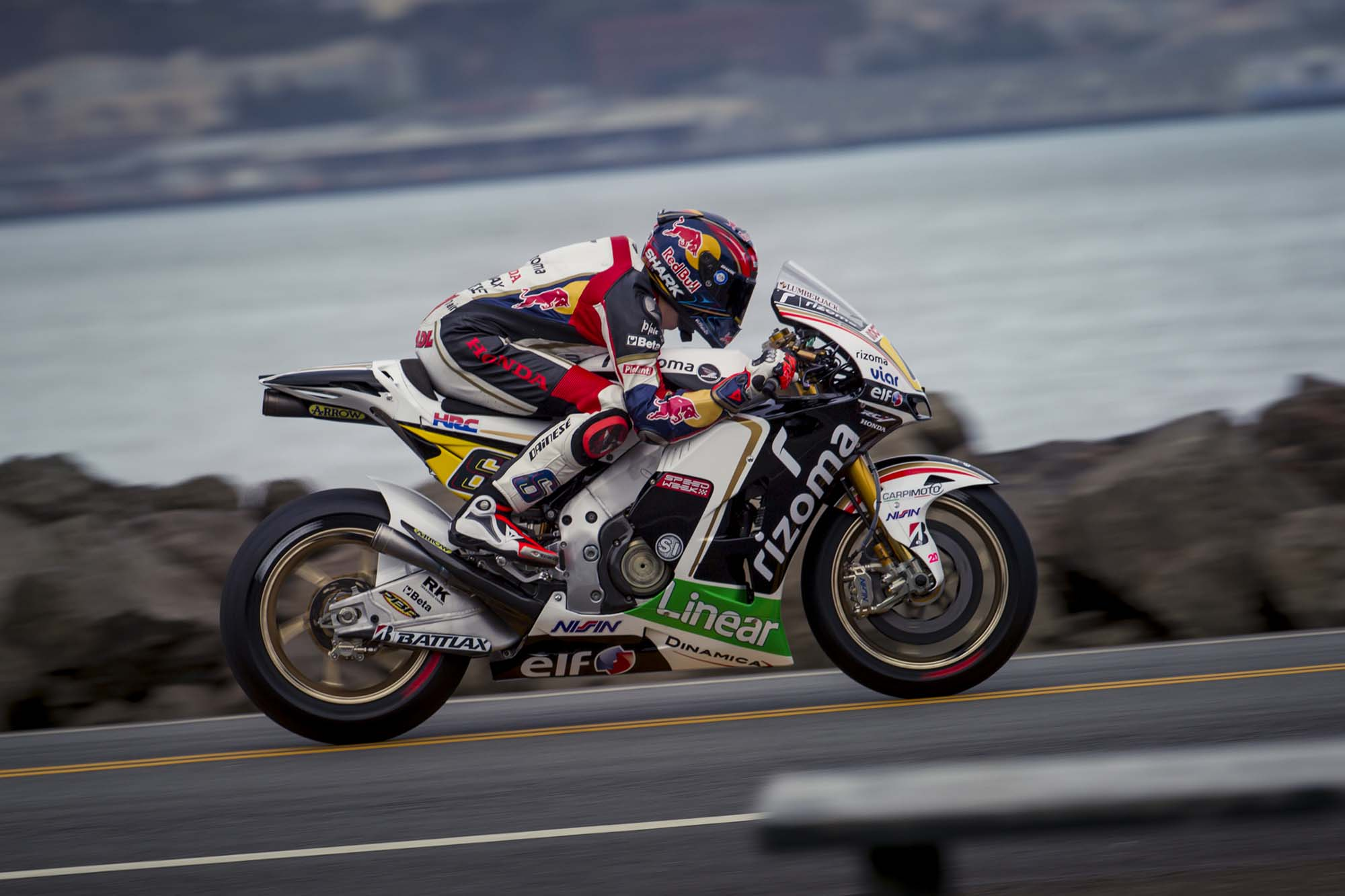 LCR Honda's Stefan Bradl Rides thru San Francisco - Asphalt & Rubber
