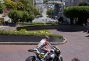 Stefan Bradl rides his MotoGP competition bike on Lombard Street ahead of his debut at Laguna Seca, in San Francisco, CA, USA, on 24 July 2012 // Marv Watson/Red Bull Content Pool // P-20120725-00003 // Usage for editorial use only // Please go to www.redbullcontentpool.com for further information. //