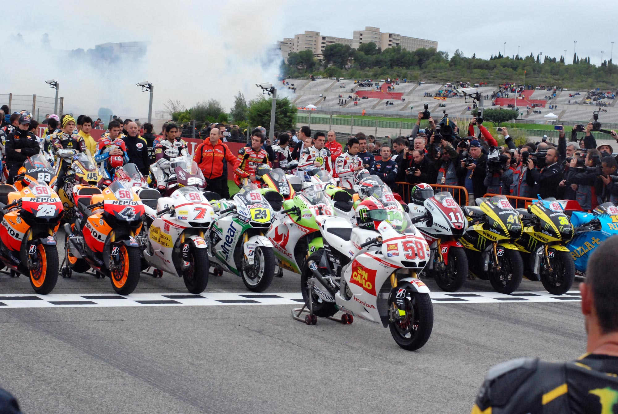 Photos: Marco Simoncelli Tribute Ride at Valencia - Asphalt & Rubber