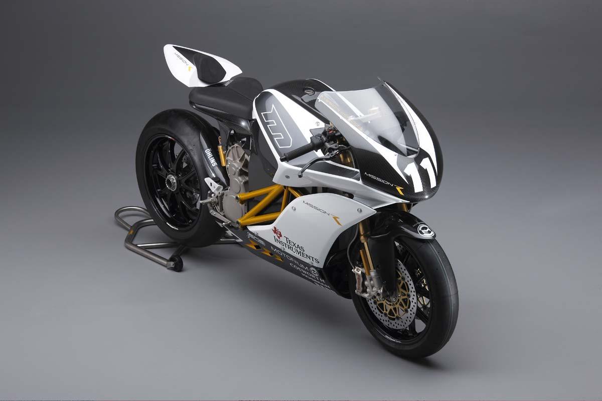 Mission r electric superbike breaks cover asphalt rubber for Best electric bike motor