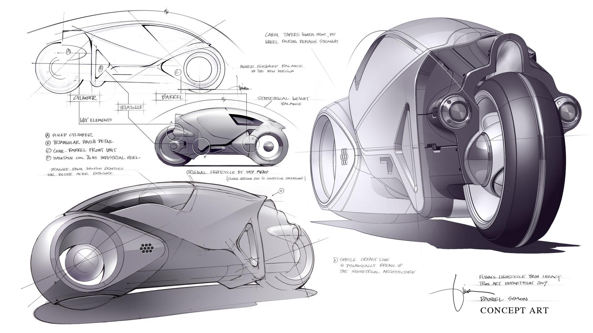 Daniel Simon Talks on the Tron: Legacy Lightcycle Design - Asphalt ...
