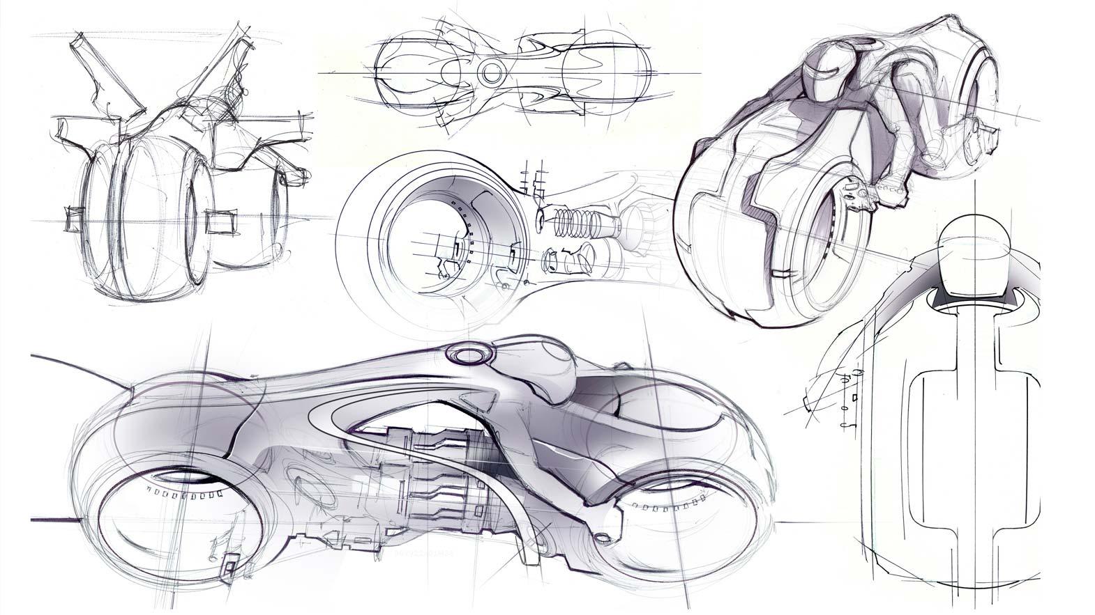 daniel simon talks on the tron  legacy lightcycle design