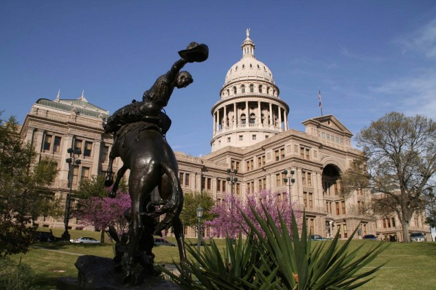 Texas Considering Allowing Lane Splitting Texas state capitol building 635x423
