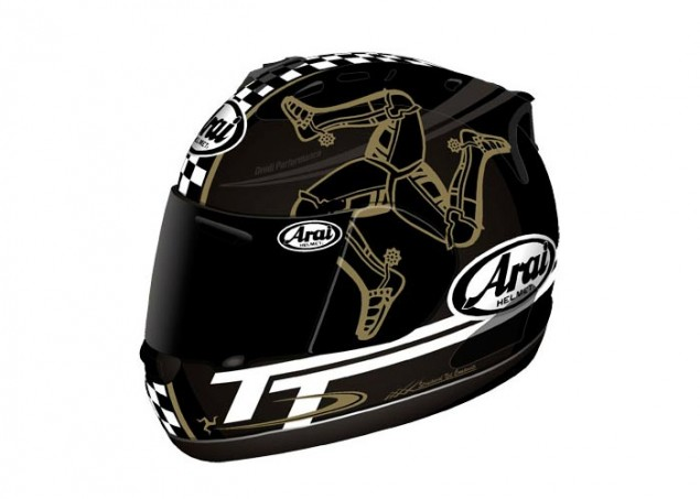 Arai RX 7 Limited Edition TT Series Helmets Arai Isle of Man TT series helmet 1 635x453