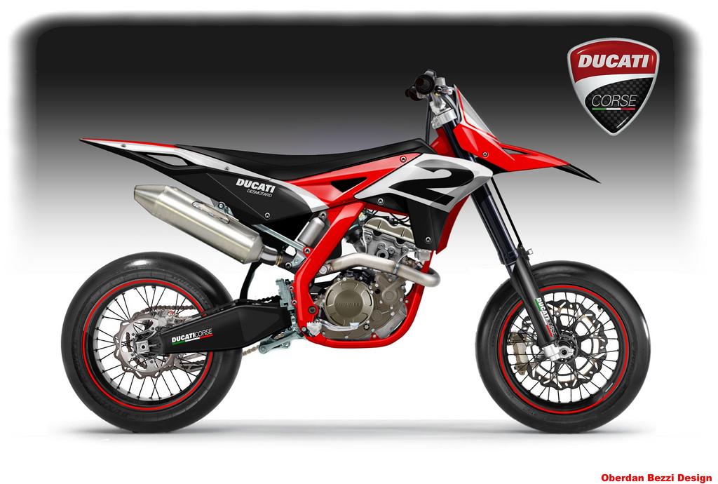 Bezzi Imagines Ducati Dirt Supermotard Bikes