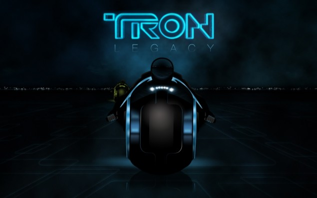 eBay: Custom Built Tron Lightcycle Tron legacy lightcycle movie poster 635x396