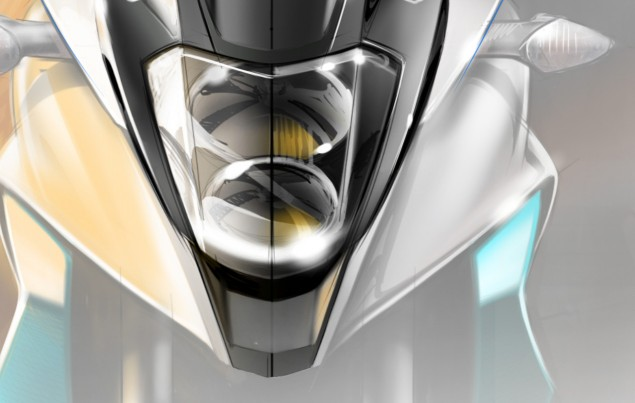 Honda Releases Another V4 Adventure Concept Teaser Honda VFR adventure front sketch 1 635x403