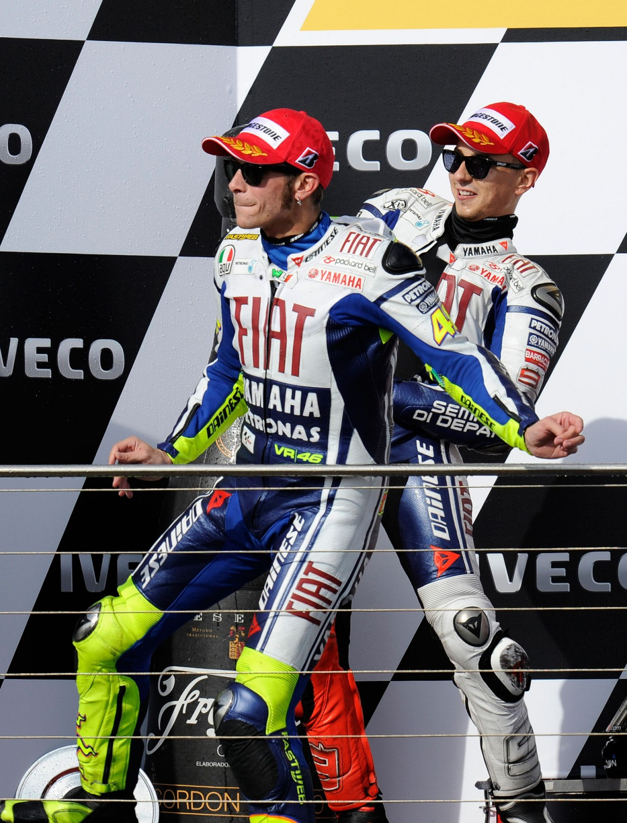 Caption This Photo: Team Victories Jorge Lorenzo Valentino Rossi caption photo 1220x1600