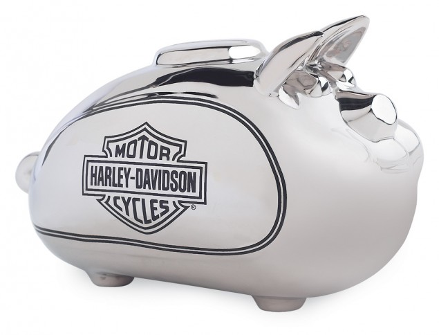 Harley Davidson Pays Back $297 Million in Loans Harley Davidson piggy bank 635x484