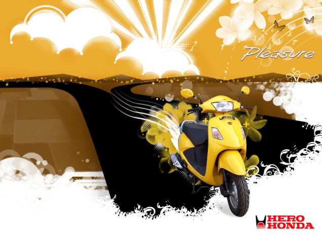 Honda Becoming Its Own Hero in India Hero Honda Pleasure 01 635x476