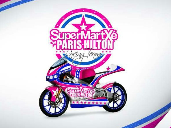 Paris Hilton 125GP Livery   Please God, Make It Stop Paris Hilton 125GP race livery