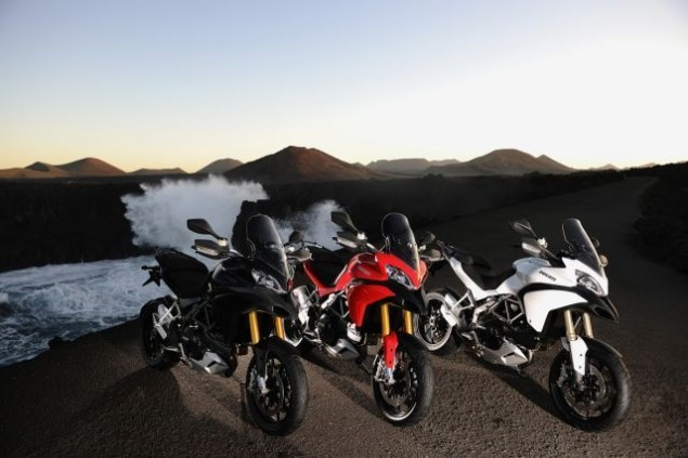 Ducati North America Posts Strong 2010 Q3 & Q4 Numbers Ducati Multistrada 1200 three colors 635x423