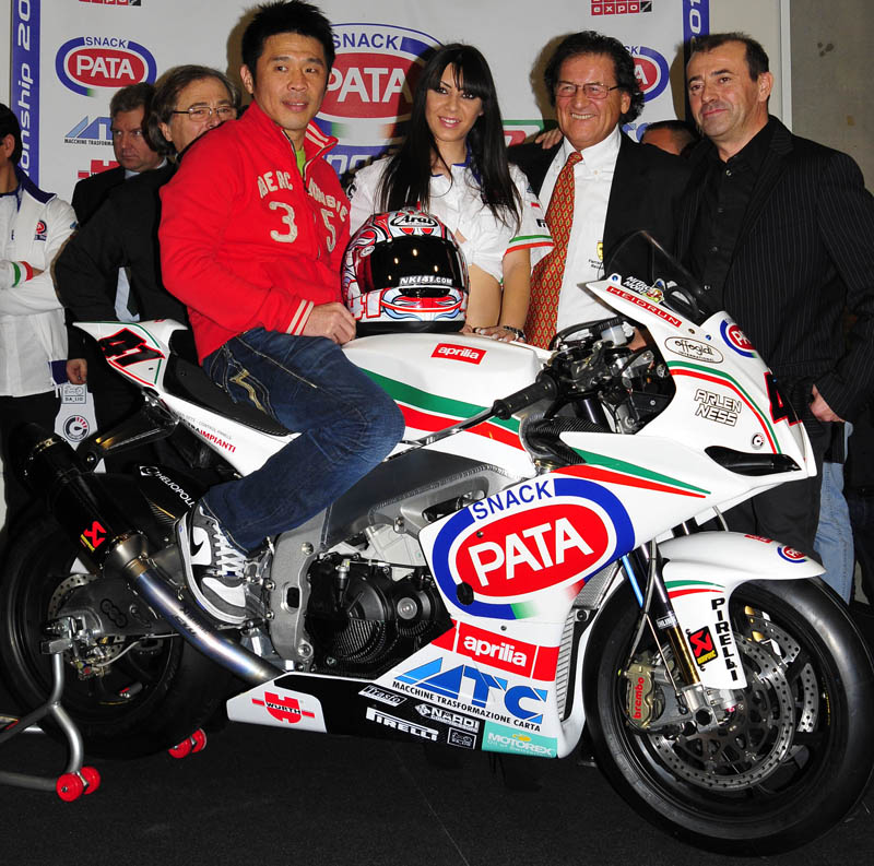 Pata Racing Team Aprilia launched its 2011 World Superbike entry today at