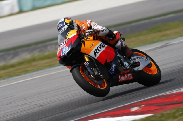 Honda Wraps Up Domination at Third Day of Sepang Andrea Dovizioso Repsol Honda Sepang test MotoGP 635x421