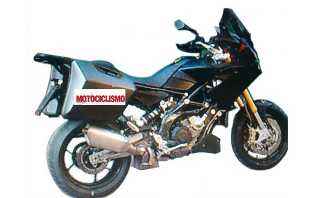 Aprilia Caponord 1200 Adventure Bike Spied Aprilia Caponord adventure bike spy shot