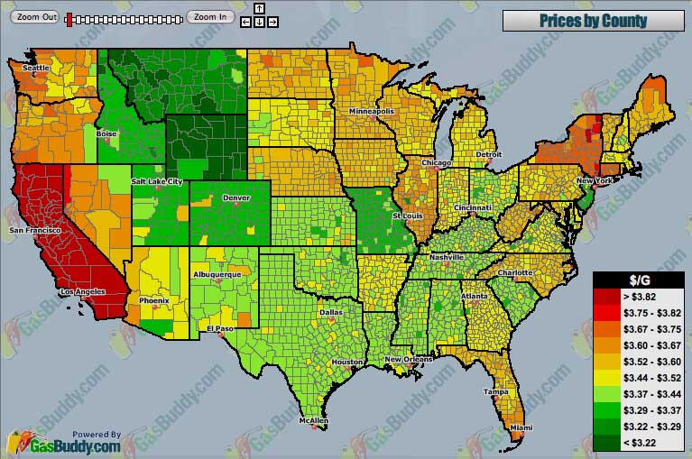 Gas Prices By County In The United States Asphalt Rubber - Gas prices accross the us map