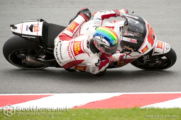 Photo of the Week: Proper Positioning Alex de Angelis Sachsenring MotoGP San Carlo Honda 635x422