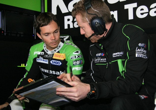 Vermeulen Tests His Knee on a Kawasaki ZX 6R in Spain Christopher Vermeulen Kawasaki WSBK 635x449