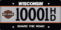 Wisconsin Offers Harley Davidson Branded License Plates Wisconsin Harley Davidson license plate