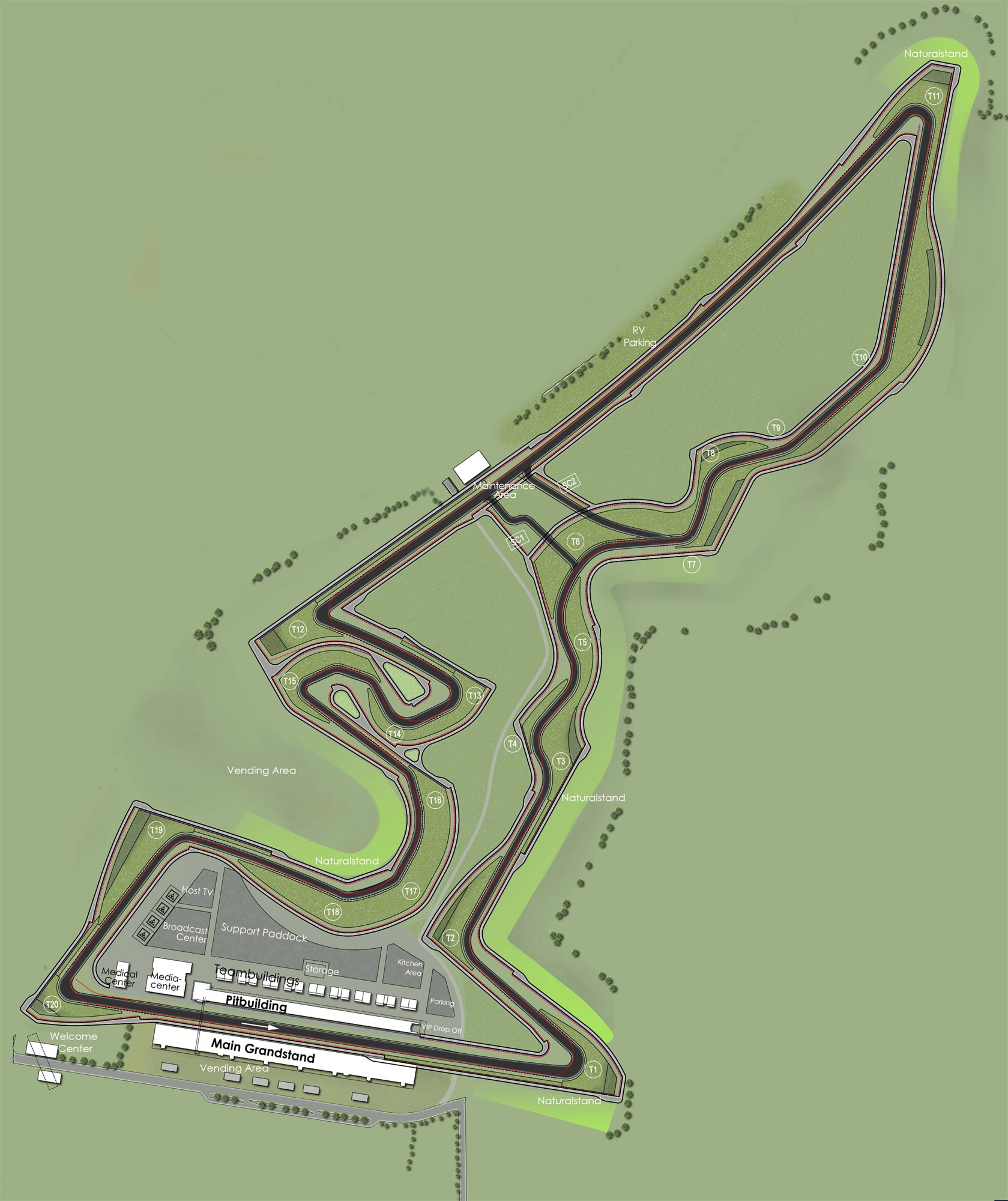 Circuit of The Americas Circuit  map circuit