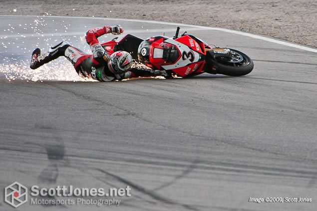 Photo of the Week: Its Not Easy Being Max Biaggi photo of the week maxi biaggi crash mmp scott jones