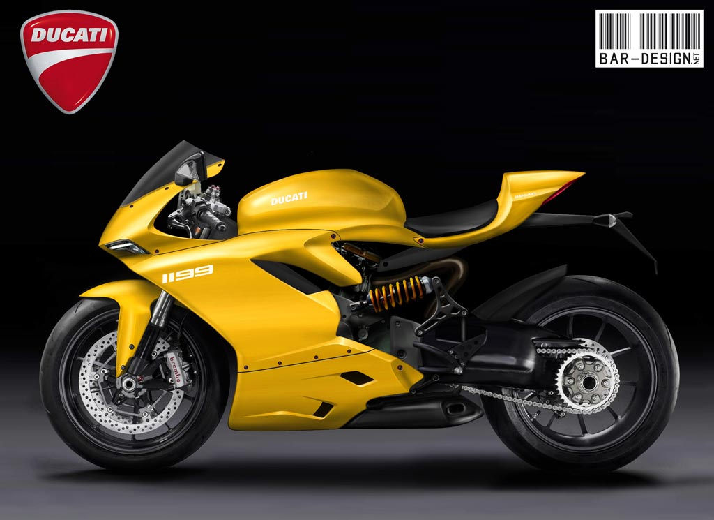 2012 Ducati Superbike 1199 Rendered By Luca Bar Design