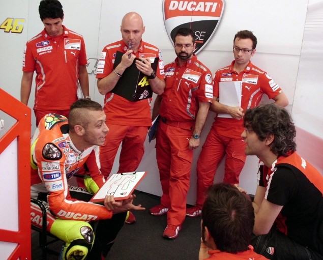 MotoGP: Ducati Racing with 2012 Chassis Starting at Assen Valentino Rossi GP12 Development 635x511