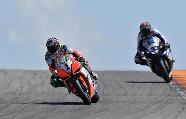 WSBK: Close Fighting for Race 1 at Brno Biaggi Melandri 635x406