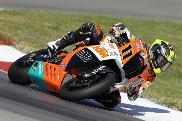 Who Had the Better AMA Superbike Racing Debut: The KTM 1190 RC8 R or the Erik Buell Racing 1190RS? Chris Fillmore KTM 1190 RC8 R Mid Ohio AMA Superbike 5 635x423