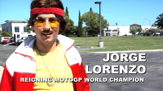 Is That Fabio? Yamaha Produces More MotoGP Video Gold Jorge Lorenzo 70s 635x356