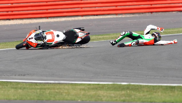 Even Max Biaggi Gets it Wrong Sometimes... Max Biaggi WSBK Silverstone Ben Davies 635x361