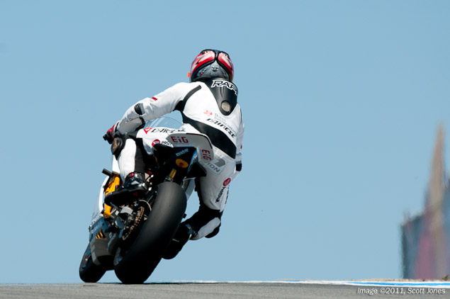 Mission Motors Laps at AMA Supersport Pace at Laguna Seca Steve Rapp Mission Motors Laguna Seca