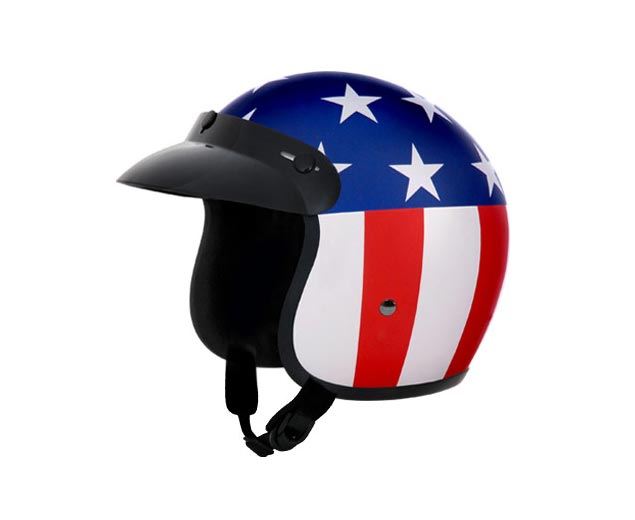Helmetless Motorcyclist Dies During Anti Helmet Protest american flag helmet