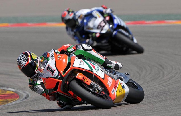 WSBK: Race 2 a Chess Match in the Czech Republic biaggi melandri2 635x406